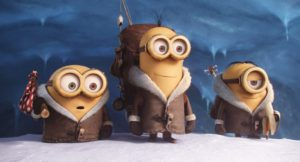 Minions - review. Kevin, Stuart and Bob embark on their quest