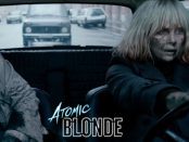 Charlize Theron driving car in Atomic Blonde
